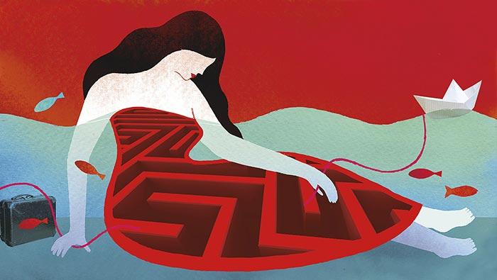 health-intestine-woman-magazine-Riza-illustration